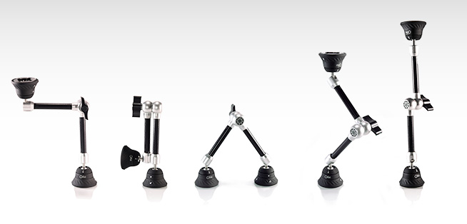5 positions of the Bridge 360, Articulating Arm Mount