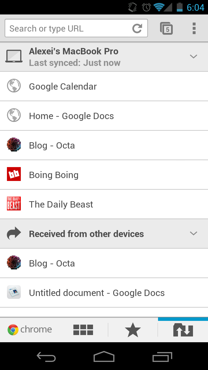 Octa • Chrome Away from Home: New Android Browser