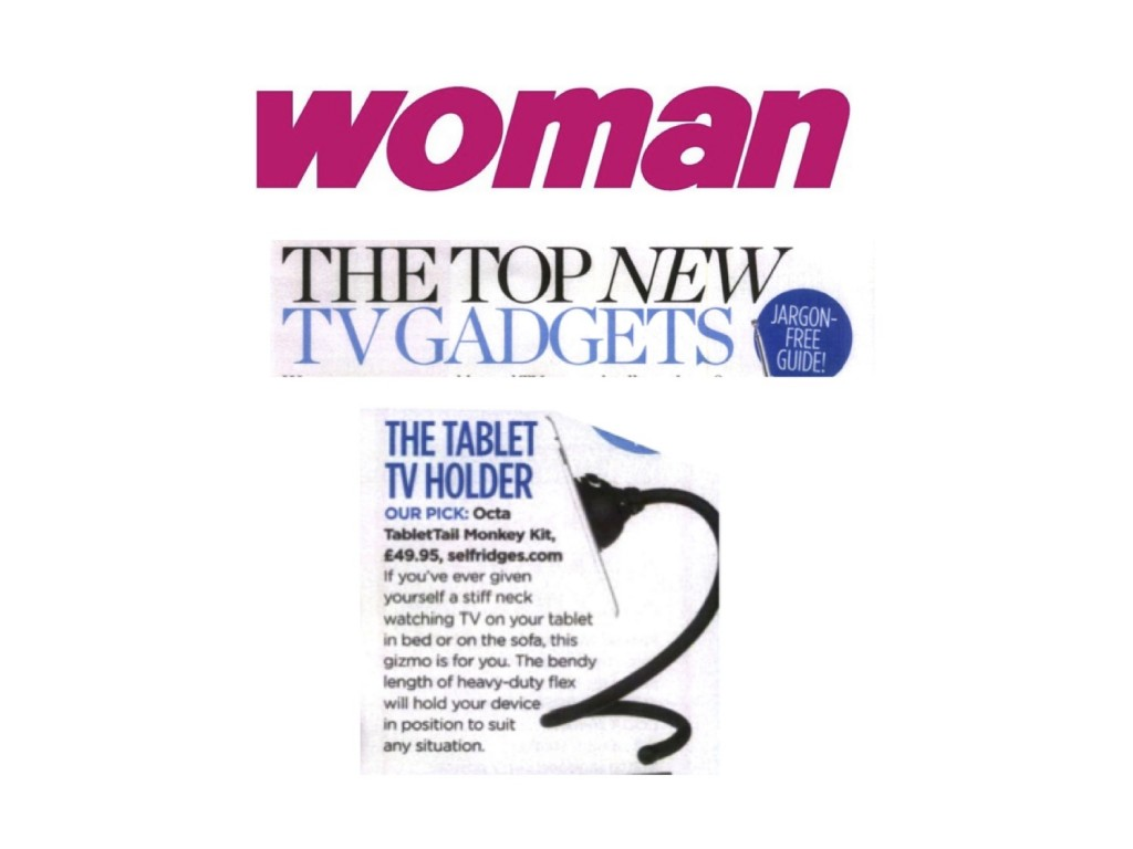 Woman Magazine's review of the Monkey Kit tablet holder
