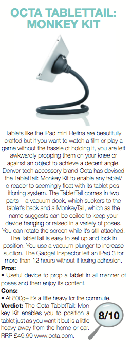 Monkey Kit Tablet Stand Reviewed by the UK Journal